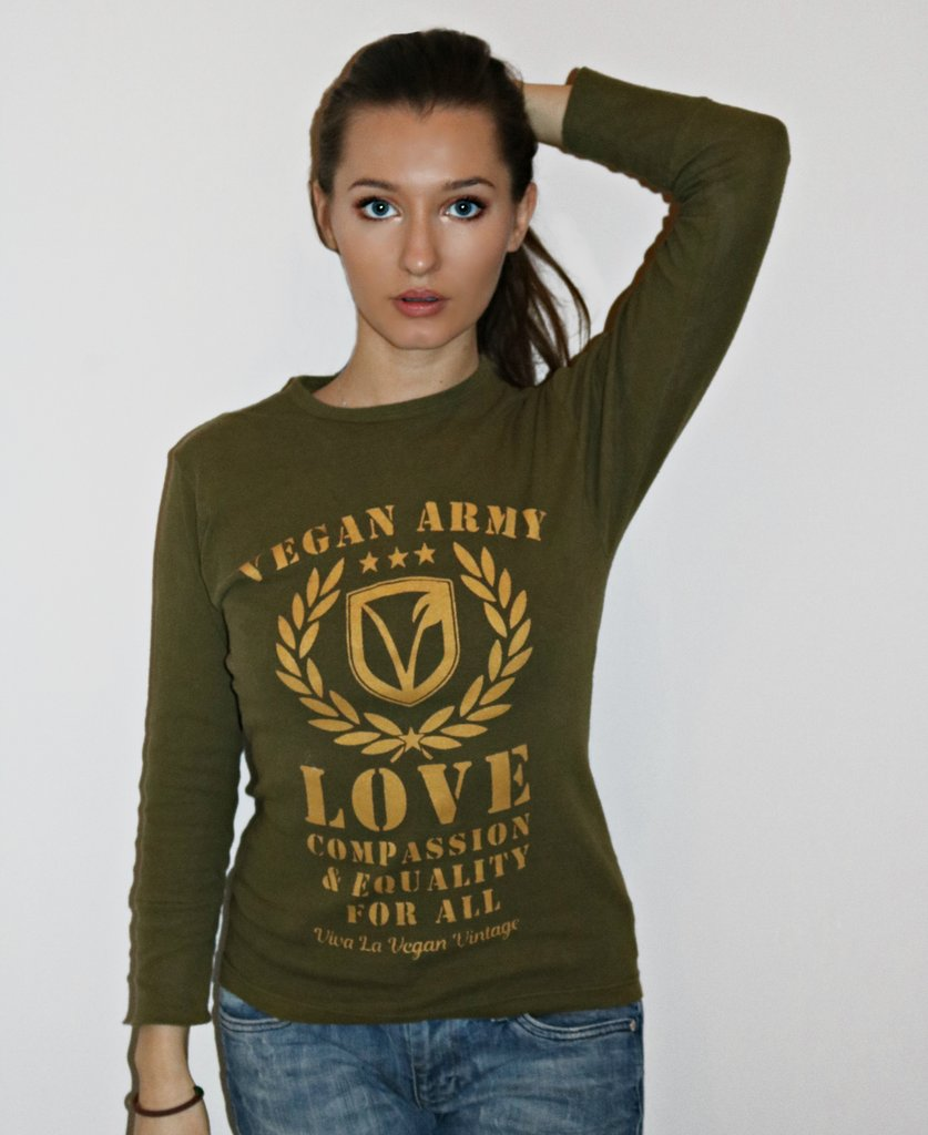 Women's Military Vegan Army Fashion Top