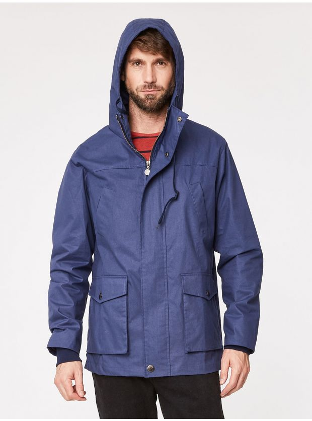 Men's Ivan Jacket in Navy, by ethical fashion company Thought. Made with organic cotton.