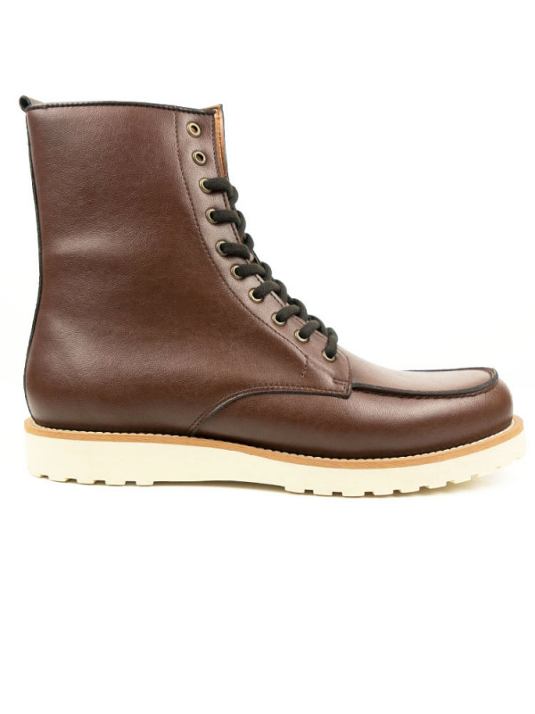 Mens Chestnut Vegan High Rig Boots