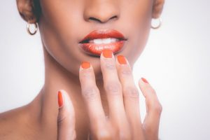 makeup cosmetics vegan on nails and mouth