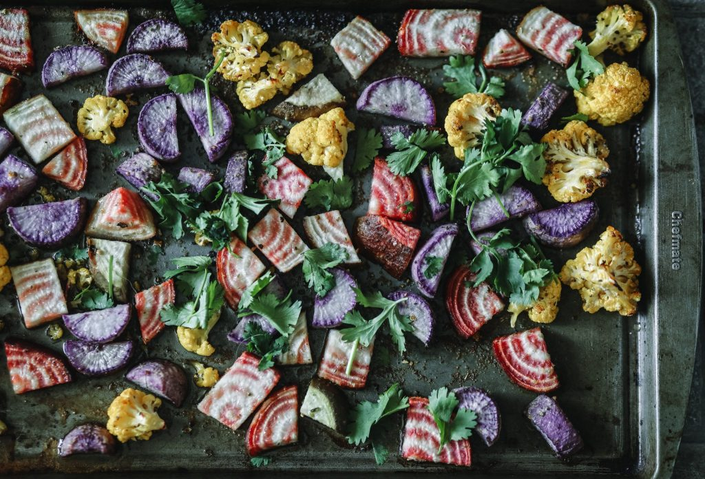 roasted colourful vegetables