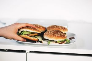 veggie vegan burgers on plate