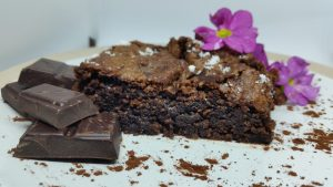 healthy vegan chocolate brownie