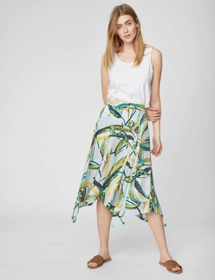 vegan spring fashion - tencel skirt