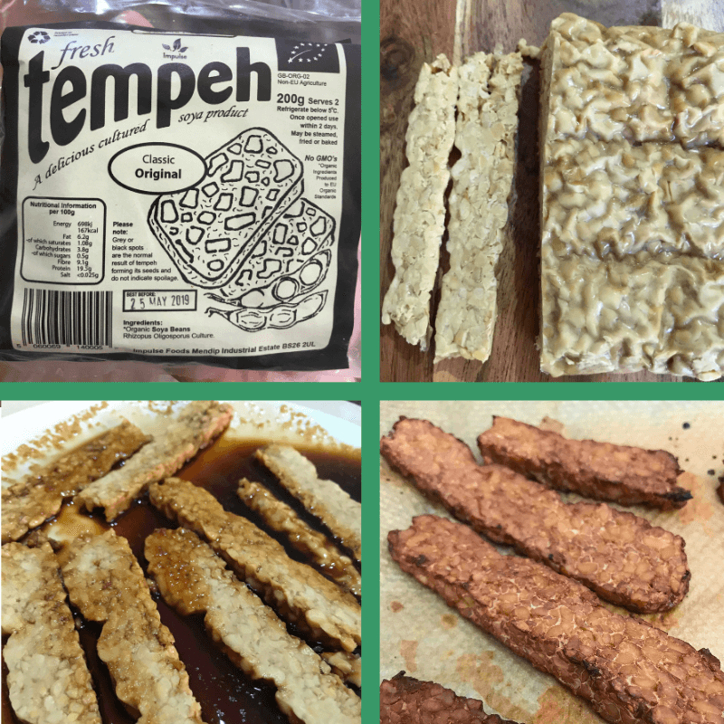 easy vegan bacon from tempeh