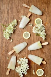 Lemon and Elderflower Ice Lollies