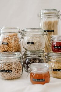 Going Vegan Through Coronavirus clear-glass-jars-filled-with-cereals-3737639