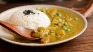 Going Vegan Through Coronavirus cooked-rice-and-curry-food-served-on-white-plate-674574