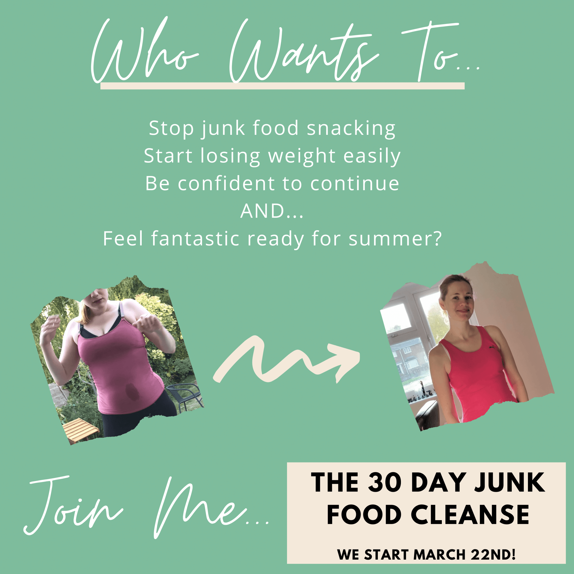 weight loss junk food cleanse for women